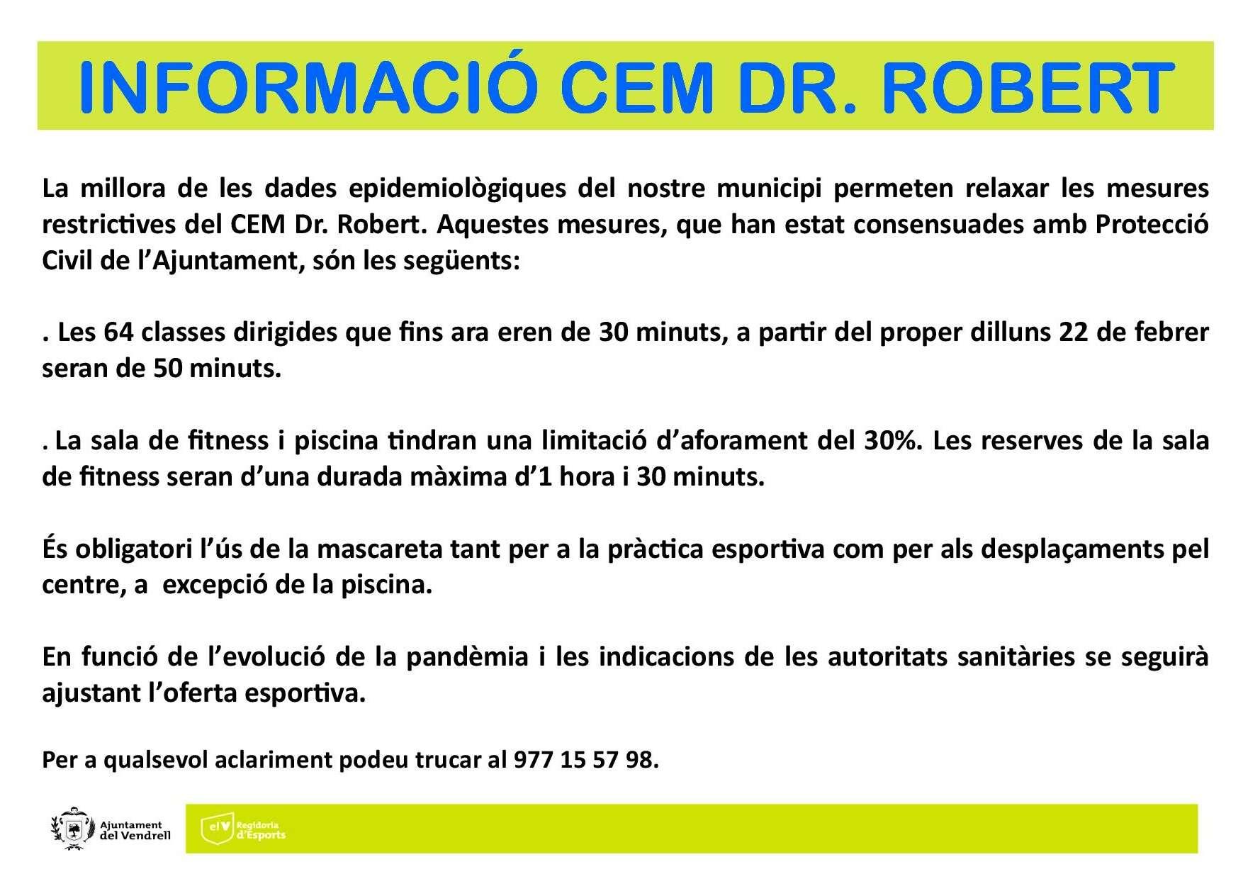 INFORMACIÓ CEM DR. ROBERT 22 FEBRER